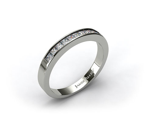 Platinum 0.30ct Channel Set Diamond Wedding Ring