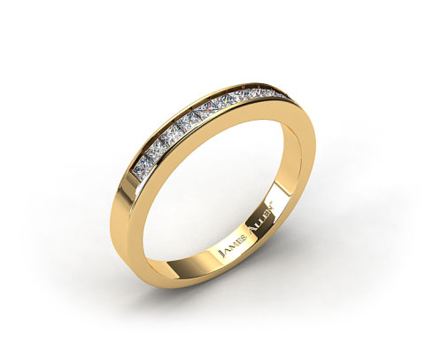 18K Yellow Gold 0.30ct Channel Set Diamond Wedding Ring