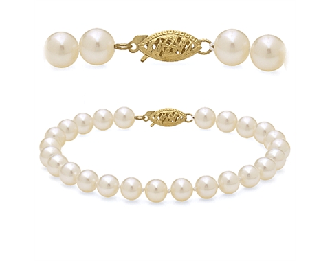 14k Yellow Gold 8.5-9.5mm Freshwater Pearl Bracelet