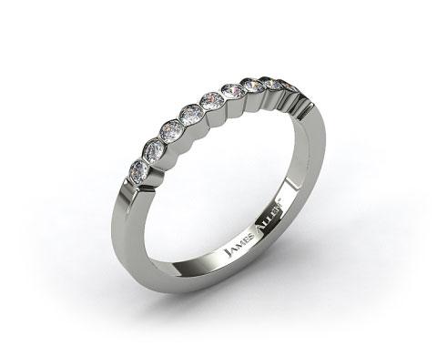 18k White Gold Bezel Set Diamond Wedding Ring