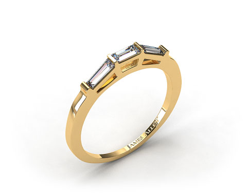 18K Yellow Gold 0.33ct Tapered Baguette Wedding Ring
