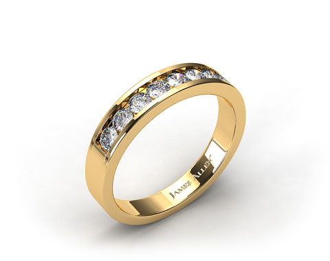 18k Yellow Gold 0.45ct Channel Set Diamond Wedding Ring
