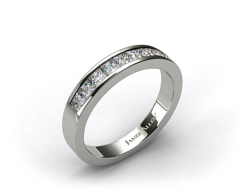 Platinum 0.54ct Channel Set Diamond Wedding Ring