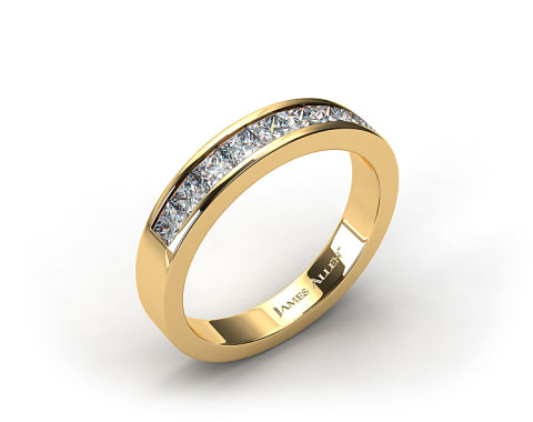 18K Yellow Gold 0.54ct Channel Set Diamond Wedding Ring