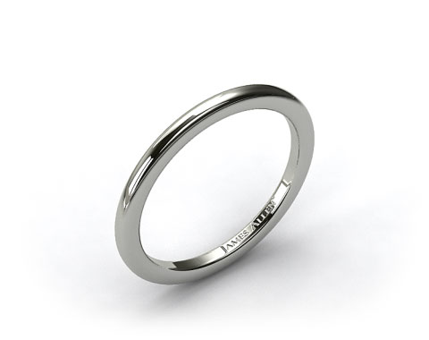 14k White Gold Rounded Wire Wedding Ring