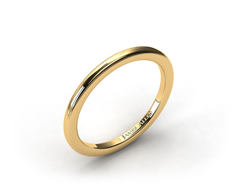 18K Yellow Gold Rounded Wire Wedding Ring