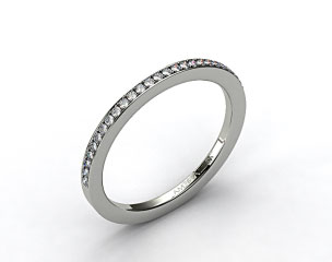 14k White Gold 1.5mm, 29 stone, 0.19ctw Matching Pave Wedding Band