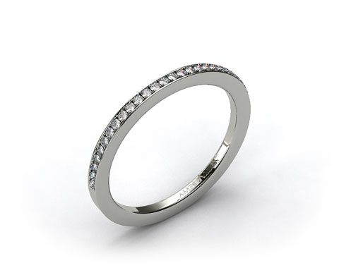 Platinum 1.5mm, 24 stone, 0.19ctw Matching Pave Wedding Band