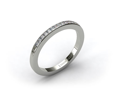 14k White Gold 1.9mm, 15 Stone, 0.24ctw Matching Channel Set Wedding Band