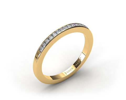 18k Yellow Gold 1.9mm, 15 Stone, 0.24ctw Matching Channel Set Wedding Band