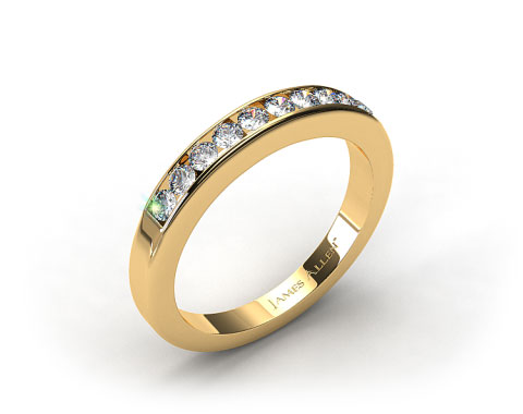 18k Yellow Gold 0.35ct Channel Set Round Diamond Wedding Ring