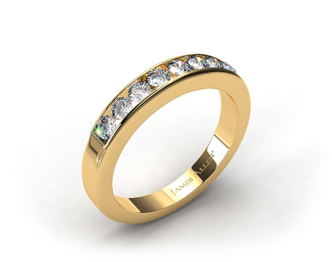 18k Yellow Gold 0.45ct Channel Set Round Diamond Wedding Ring