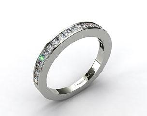 18K White Gold 0.57ct Channel Set Princess Diamond Wedding Ring