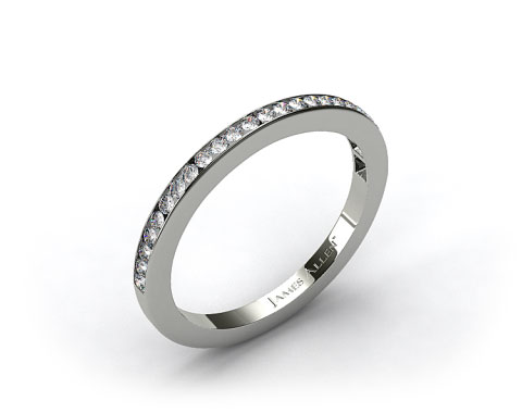 14K White Gold 1.8mm, 25 Stone, 0.25ctw Matching Channel Set Wedding Band
