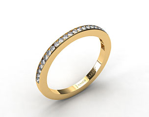 18K Yellow Gold 1.8mm, 25 Stone, 0.25ctw Matching Channel Set Wedding Band