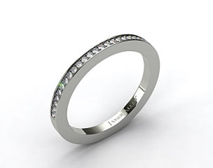 14K White Gold 1.8mm, 27 Stone, 0.19ctw Matching Pave Wedding Band