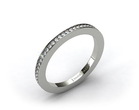 Platinum 1.5mm, 58 stone, 0.38ctw Matching Pave Eternity Band