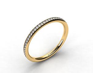 14K Yellow Gold 2mm, 48 Stone, 0.27ctw Matching Pave Wedding Band