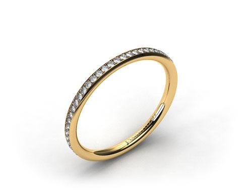 18k Yellow Gold 2mm, 48 Stone, 0.27ctw Matching Pave Wedding Band