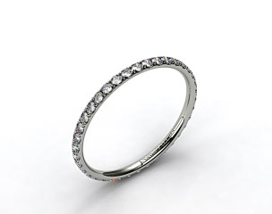 18k White Gold 1.5mm, 46 stone, 0.32ctw Matching Pave Eternity Band