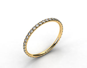 14K Yellow Gold 1.5mm, 46 stone, 0.32ctw Matching Pave Eternity Band
