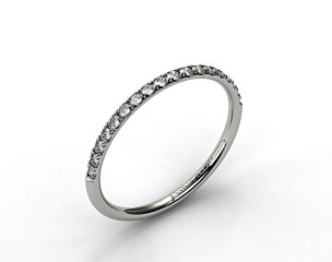 14K Yellow Gold 1.5mm, 23 Stone, 0.16ctw Matching Pave Wedding Band