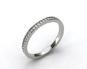 14K White Gold 2mm, 26 Stone, 0.18ctw Matching Pave Wedding Band
