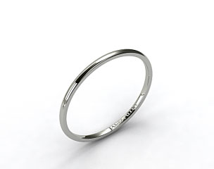 18k White Gold 1.5mm Comfort Fit Wedding Ring