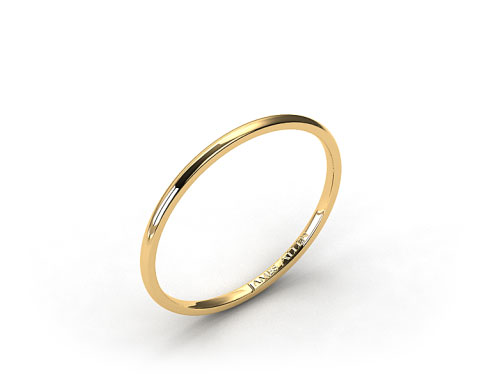 18K Yellow Gold 1.5mm Comfort Fit Wedding Ring