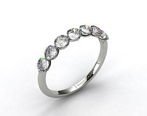 14K Rose Gold Scalloped Share Prong Wedding Ring