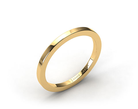 18k Yellow Gold 1.8mm High Polish Wedding Ring