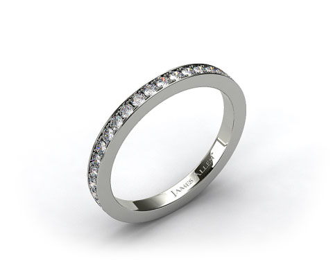 Platinum 1.8mm Pave Set Eternity Ring