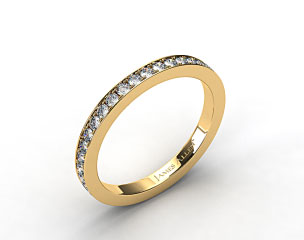 18k Yellow Gold 1.8mm Pave Set Eternity Ring