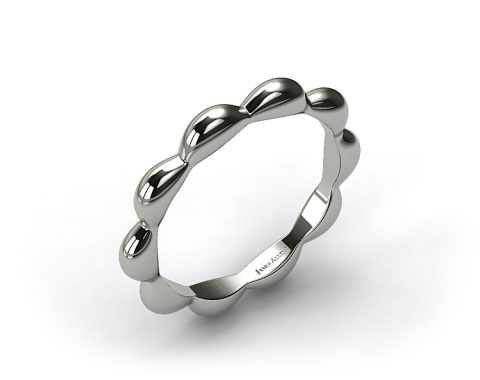 18K White Gold Seeds of Nature Wedding Ring