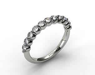 14K White Gold Round Diamond Trio Wedding Ring