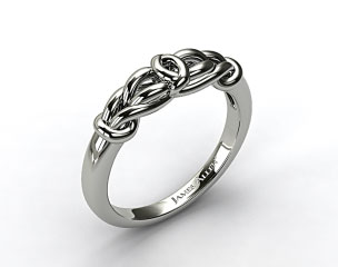 14K White Gold Love Knot Wedding Ring