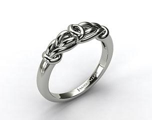 Platinum Love Knot Wedding Ring