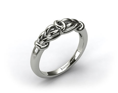 18K White Gold Love Knot Wedding Ring