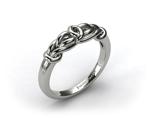 14K White Gold Love Knot Wedding Ring