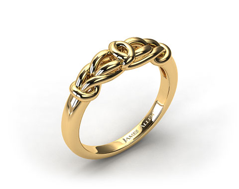 18k Yellow Gold Love Knot Wedding Ring
