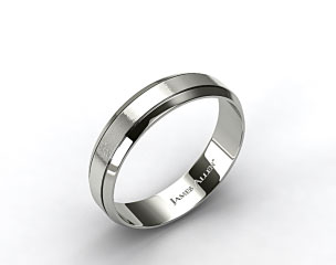 Platinum 6mm Etched Comfort Fit Wedding Band