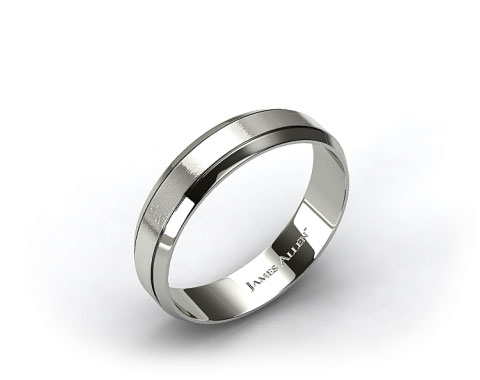 Palladium 6mm Etched Comfort Fit Wedding Band