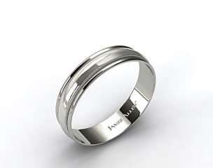 Platinum 6mm Milgrain with Double Edge Comfort Fit Wedding Band