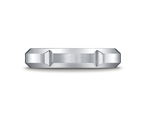 Cobaltchrome 5mm Vertical Grooved Wedding Ring