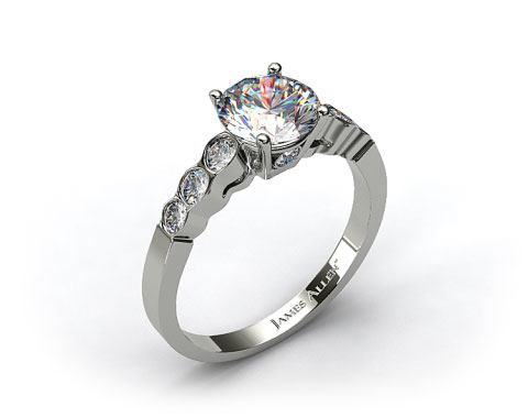 Platinum Bezel Set Surprise Diamond Engagement Ring