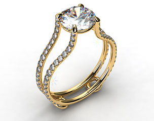 18k Yellow Gold Tapered Split Shank ZE121 by Danhov Designer Engagement Ring