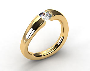 18k Yellow Gold Wave Tension V122 by Danhov Designer Engagement Ring
