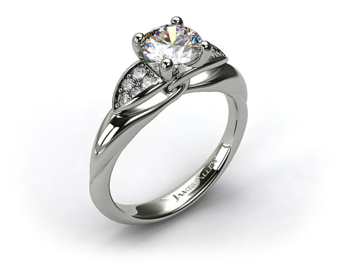 platinum twisted love knot engagement ring 17939p
