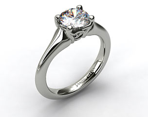 Platinum Twisted Love Knot Solitaire Engagement Ring