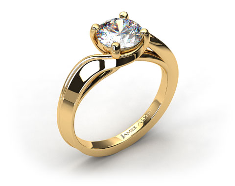 18K Yellow Gold Bypass Engagement Ring